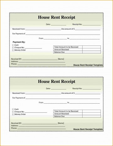 001 Awesome House Rent Receipt Sample Doc Idea  Template India Bill Format Word Document Pdf Download360