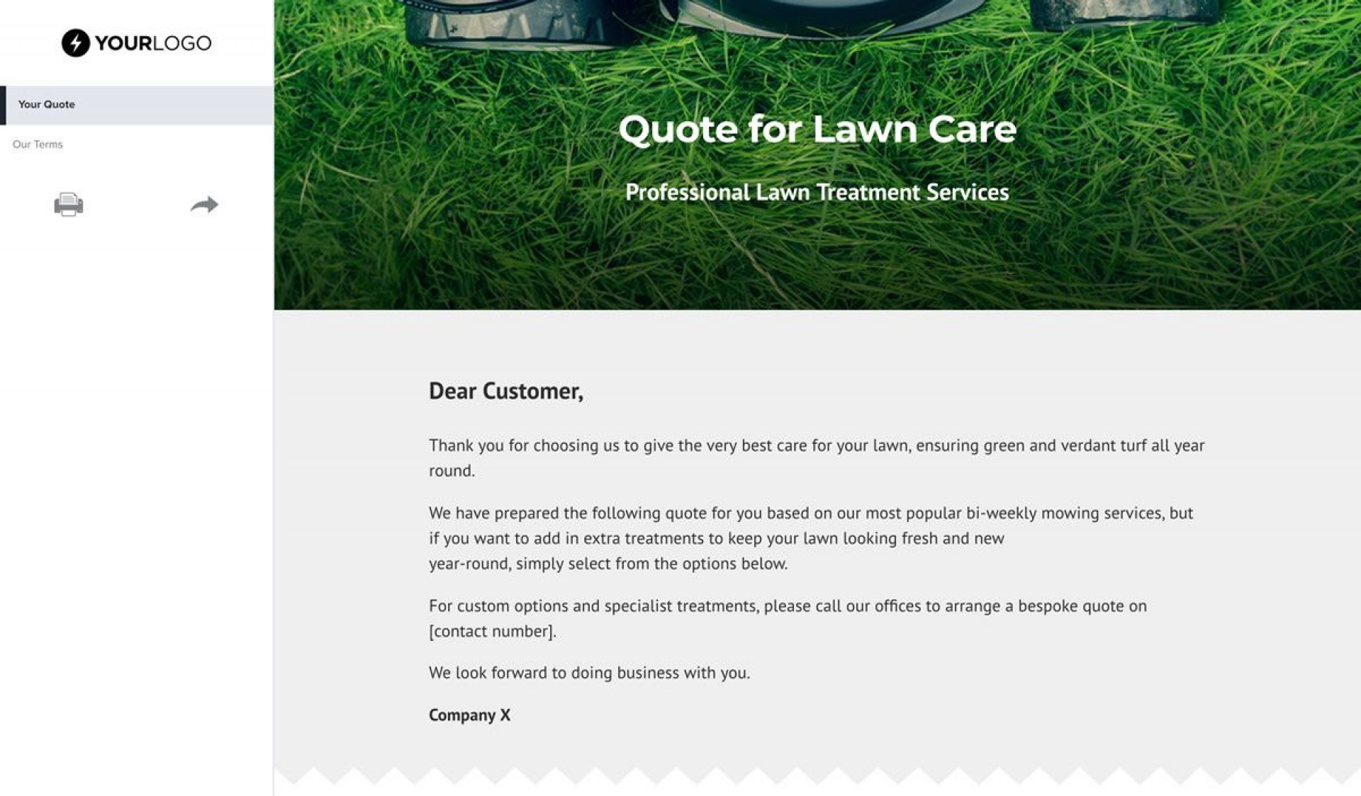 001 Awesome Lawn Care Bid Template High Def  Sheet Commercial Service Proposal Free1920