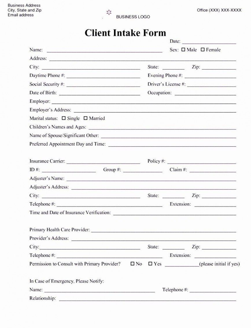 001 Awesome Mental Health Intake Form Template Sample  Counseling AssessmentFull