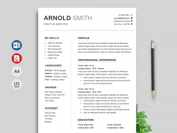 001 Awesome Modern Cv Template Word Free Download 2019 Design 360