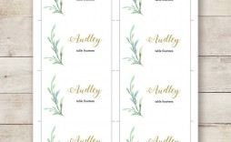 001 Awesome Name Place Card Template For Wedding Highest Quality  Free Word