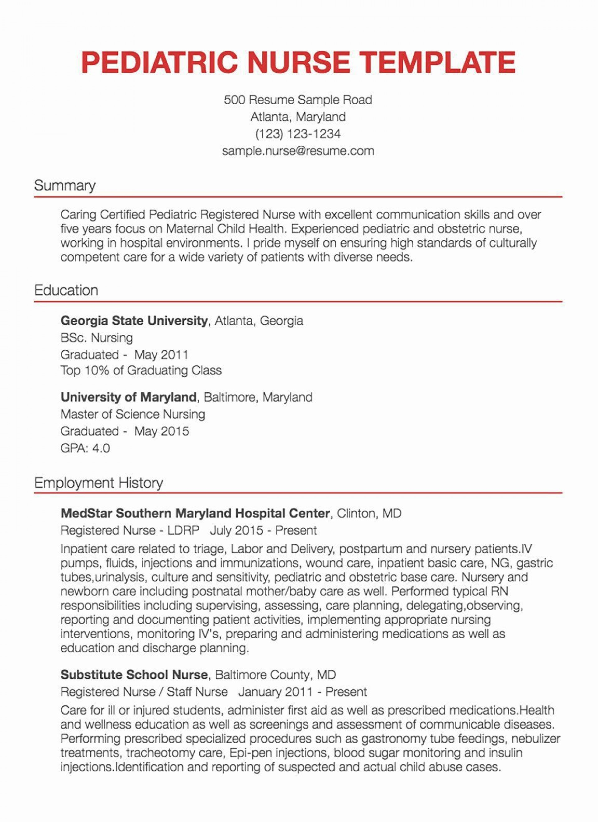 001 Awesome New Rn Resume Template Picture 1920