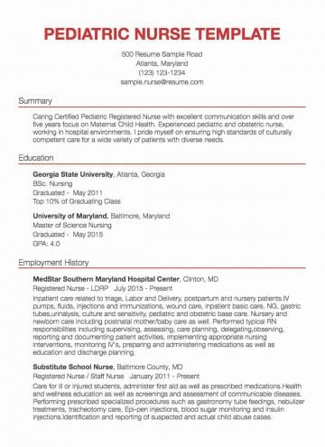 001 Awesome New Rn Resume Template Picture 360