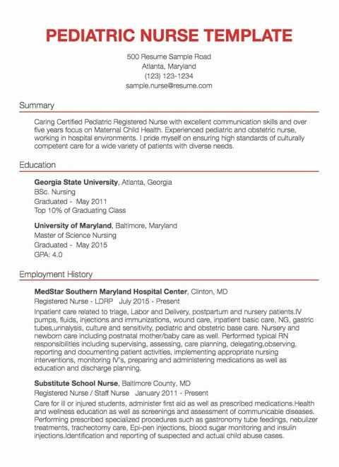 001 Awesome New Rn Resume Template Picture 480