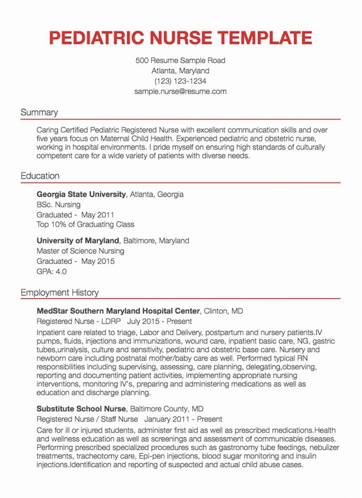 001 Awesome New Rn Resume Template Picture 728