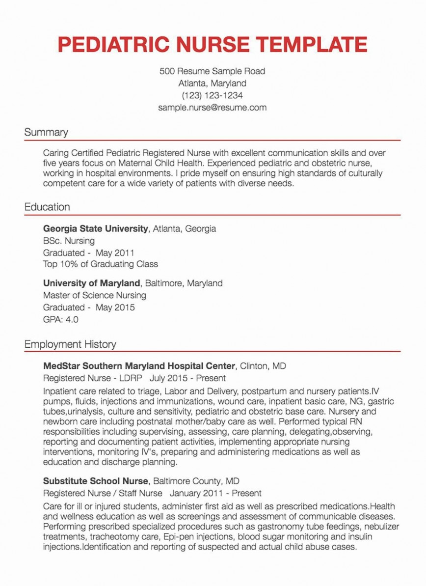 001 Awesome New Rn Resume Template Picture 868