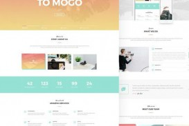 001 Awesome One Page Website Template Psd Free Download Photo