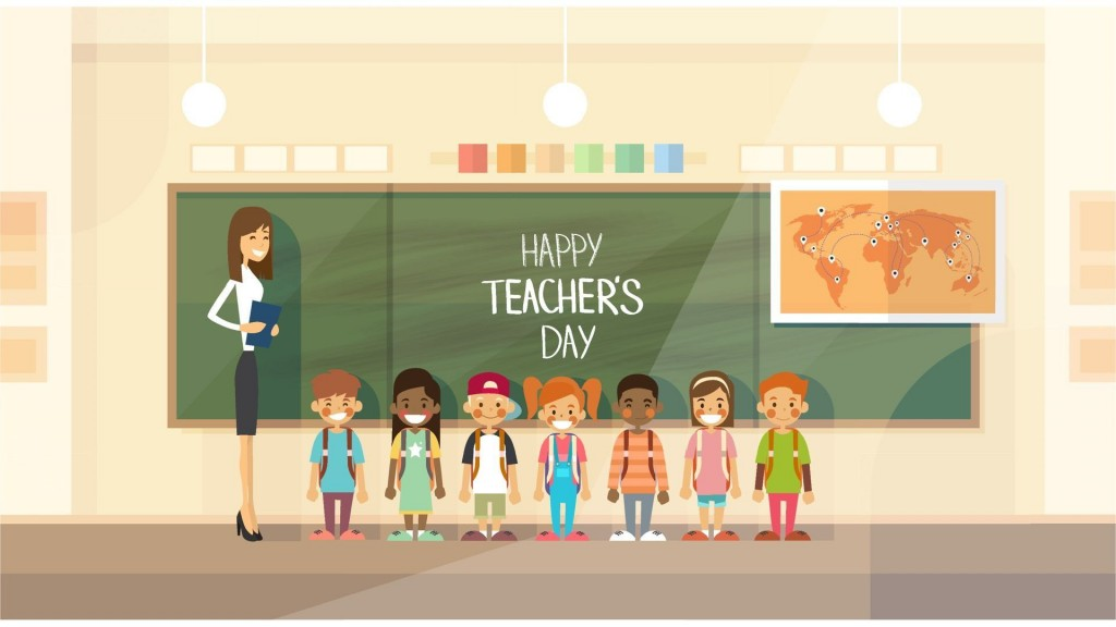 001 Awesome Ppt Template For Teacher Inspiration  Teachers Free Download Powerpoint Education KindergartenLarge