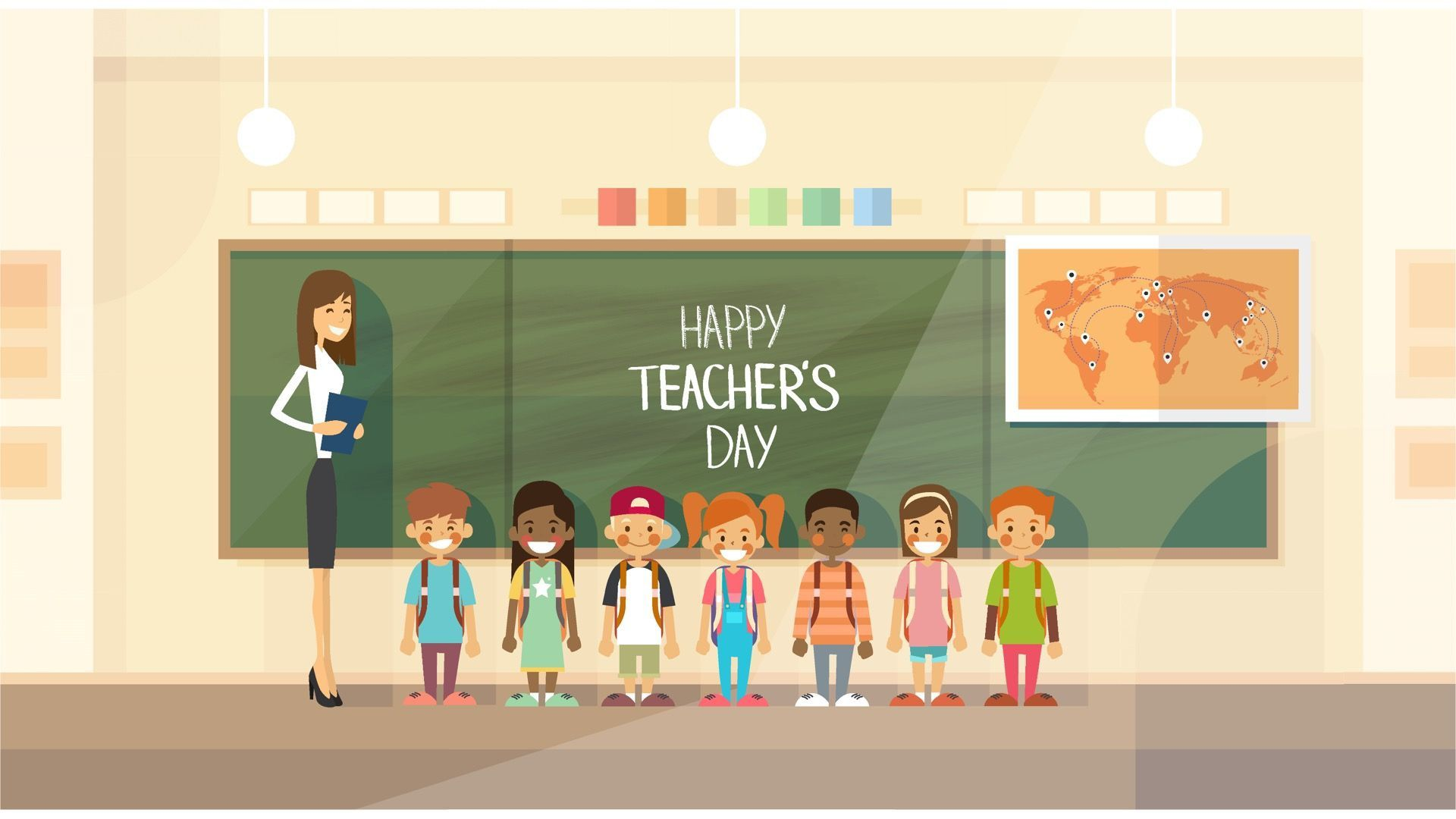 001 Awesome Ppt Template For Teacher Inspiration  Teachers Free Download Powerpoint Education KindergartenFull