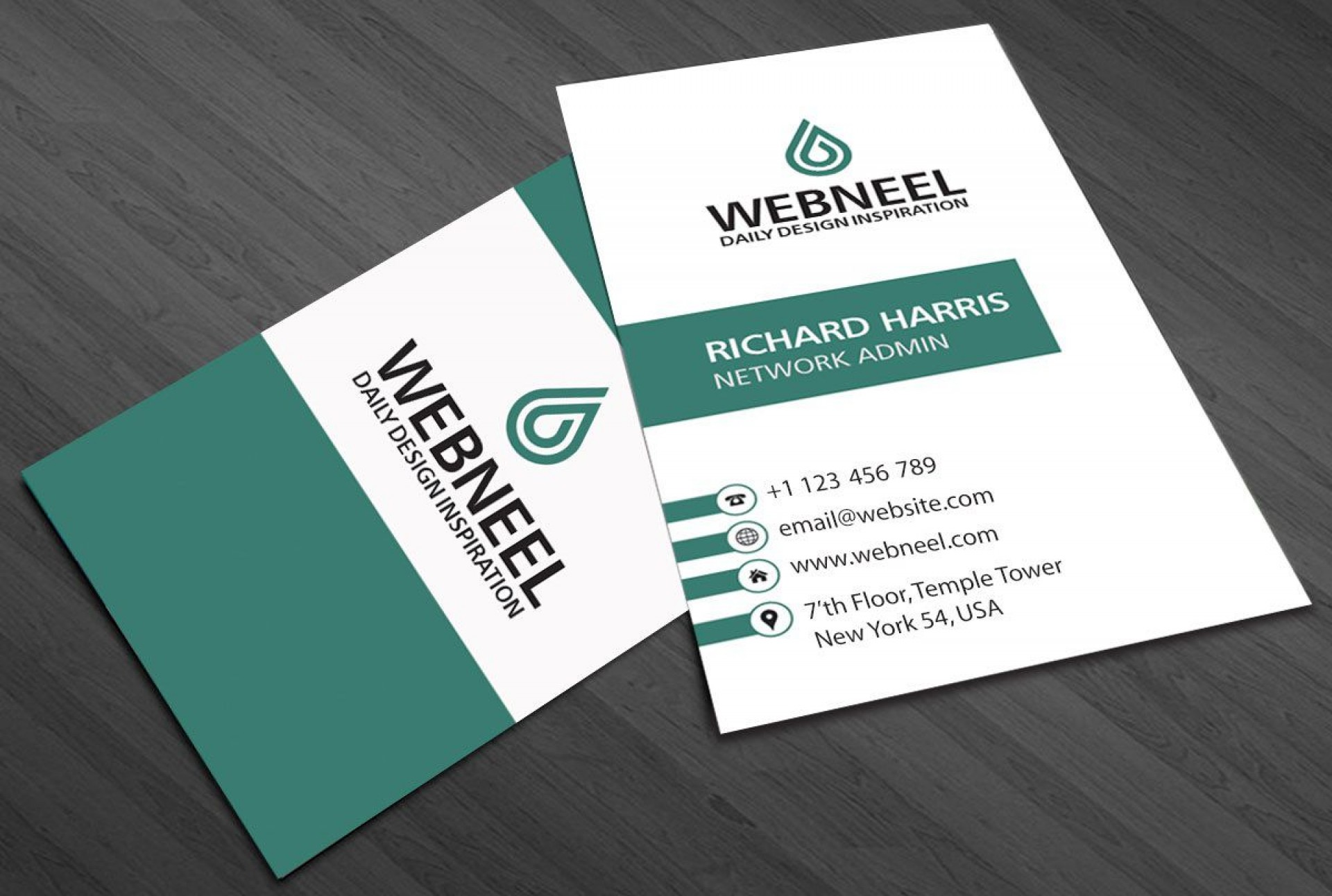 001 Awesome Simple Visiting Card Template Idea  Templates Busines Psd Design File Free Download1920