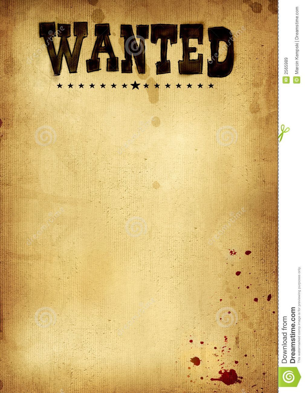 001 Awesome Wanted Poster Template Free Printable Highest Quality  MostFull
