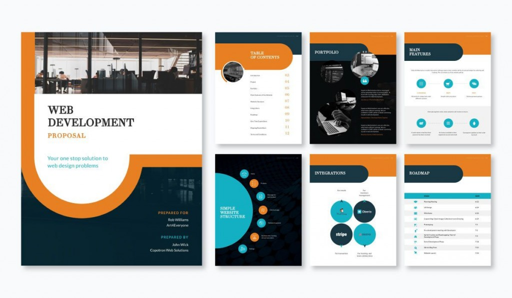 001 Awesome Web Design Proposal Template Free Picture  Freelance DownloadLarge