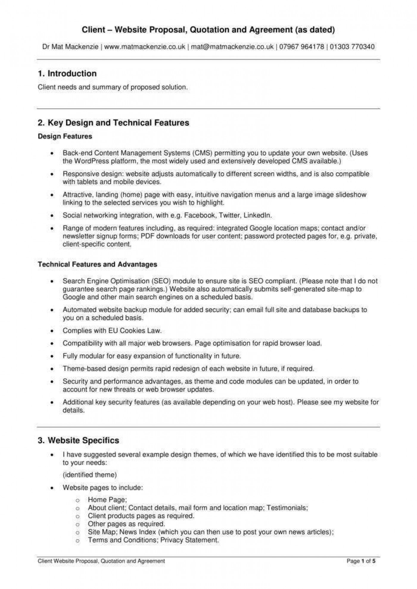 001 Awesome Web Development Proposal Template Pdf Example  Sample1400