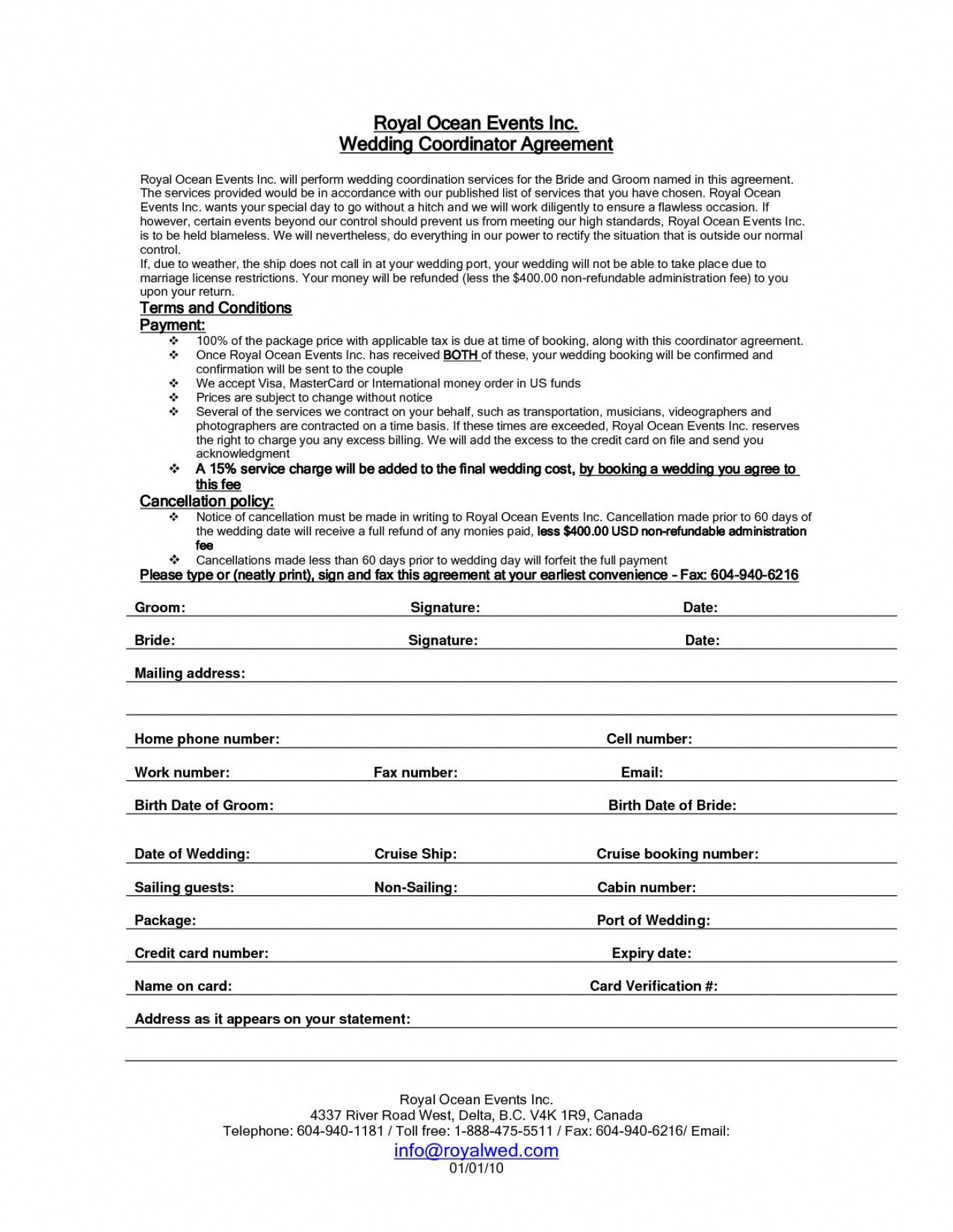 001 Awesome Wedding Planner Contract Template High Def  Uk Australia1400
