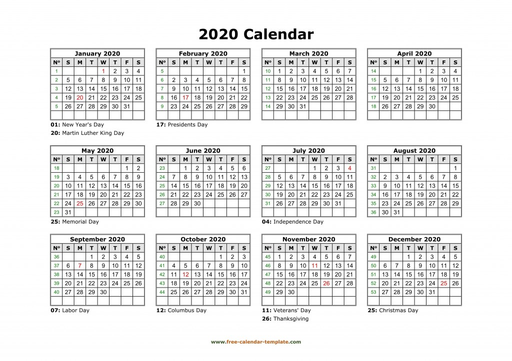001 Awful 2020 Payroll Calendar Template Sample  Biweekly Canada Free ExcelLarge