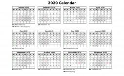 001 Awful 2020 Payroll Calendar Template Sample  Biweekly Canada Free Excel