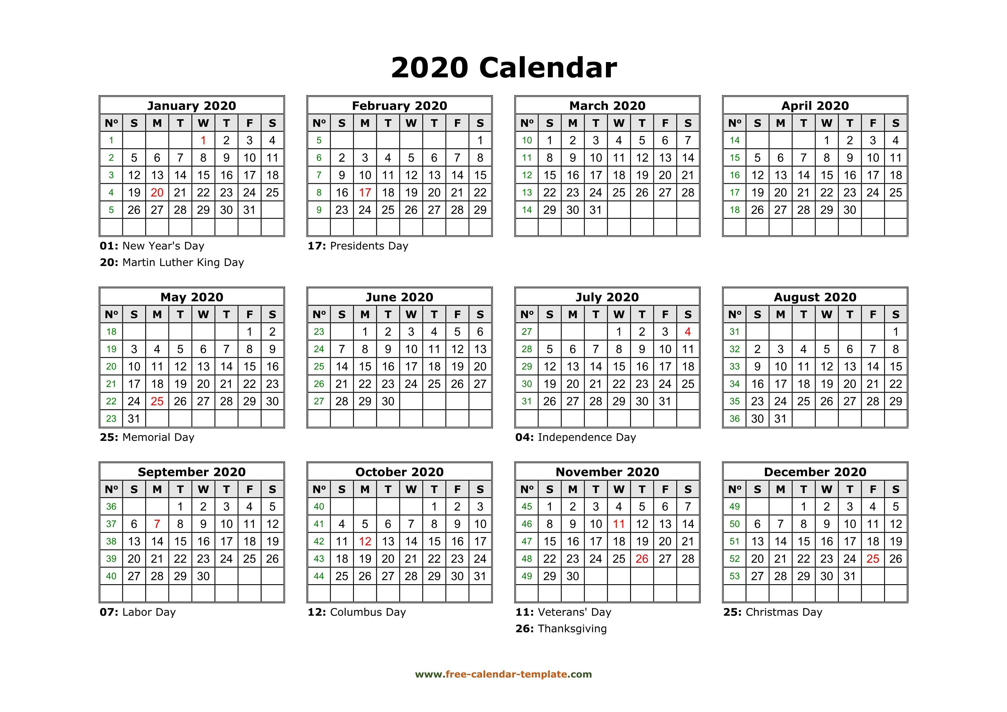 001 Awful 2020 Payroll Calendar Template Sample  Biweekly Canada Free ExcelFull