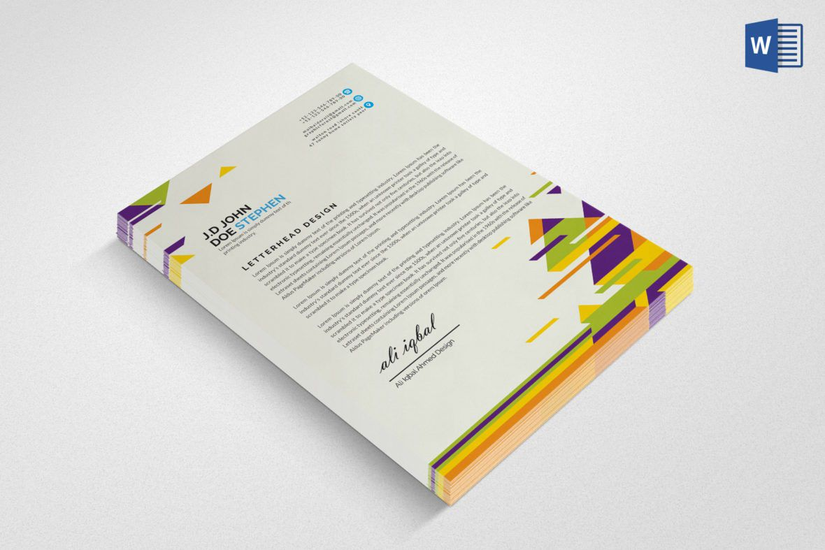 001 Awful Free Letterhead Template Download Example  Word Psd SampleFull