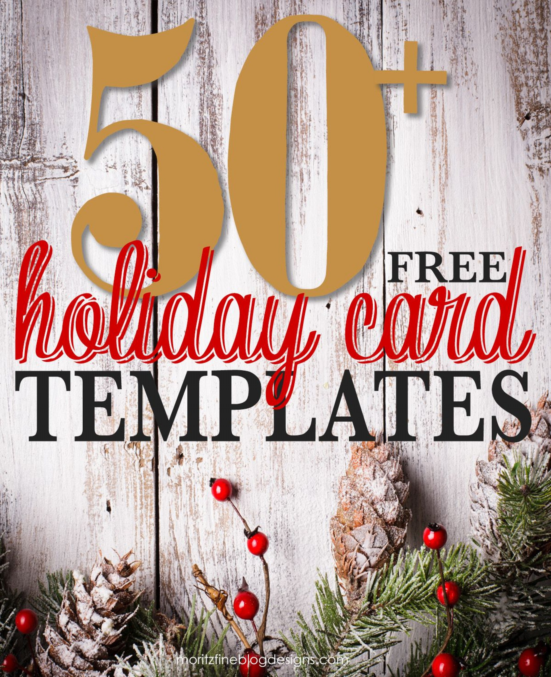001 Awful Free Photo Card Template  Printable Holiday Christma Download1920