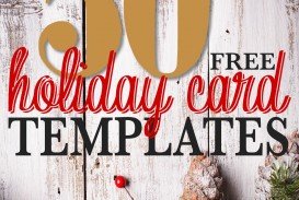 001 Awful Free Photo Card Template  Printable Holiday Christma Download