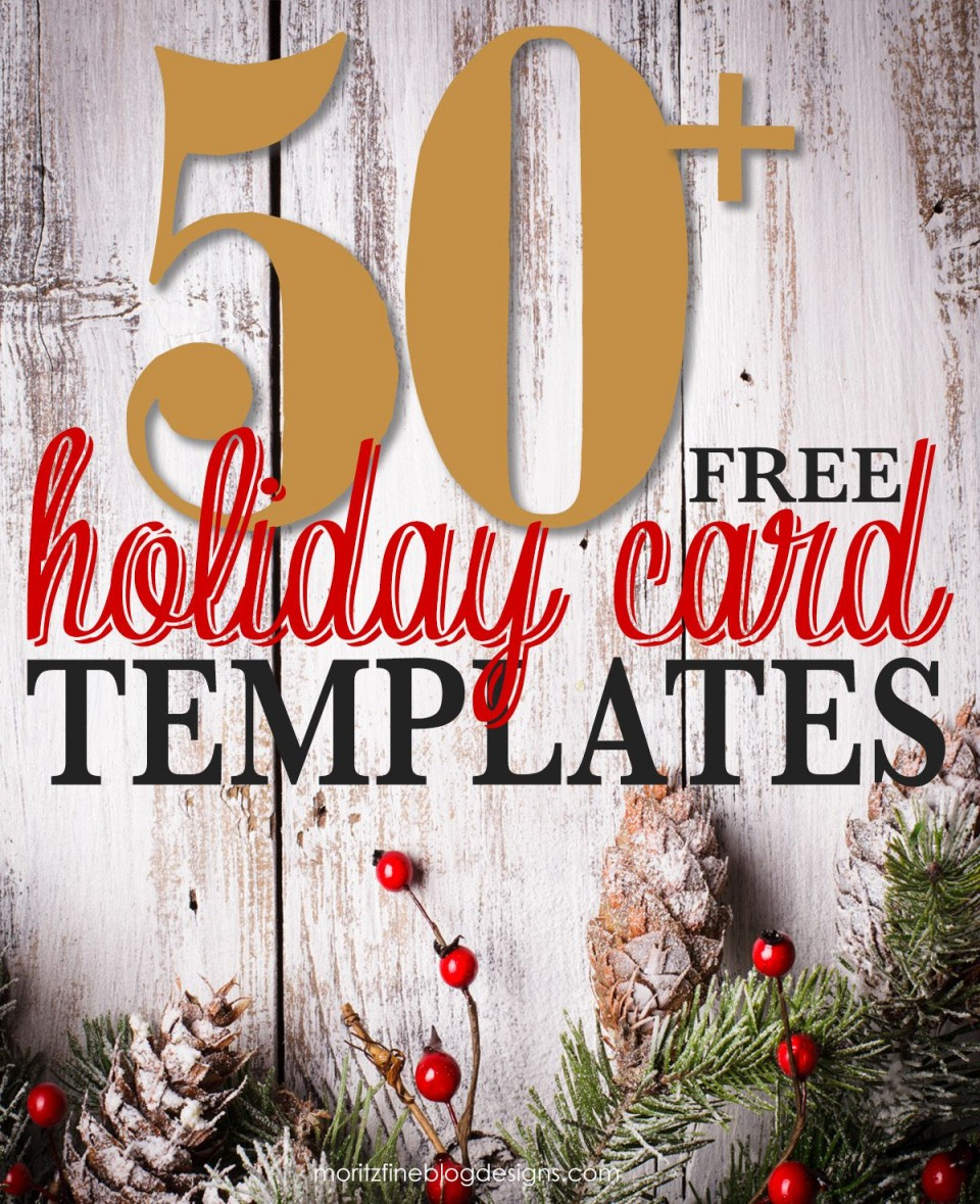 001 Awful Free Photo Card Template  Printable Holiday Christma Download960