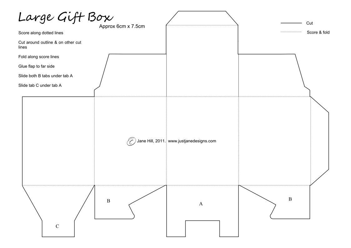 001 Awful Free Printable Large Gift Box Template Image  TemplatesFull