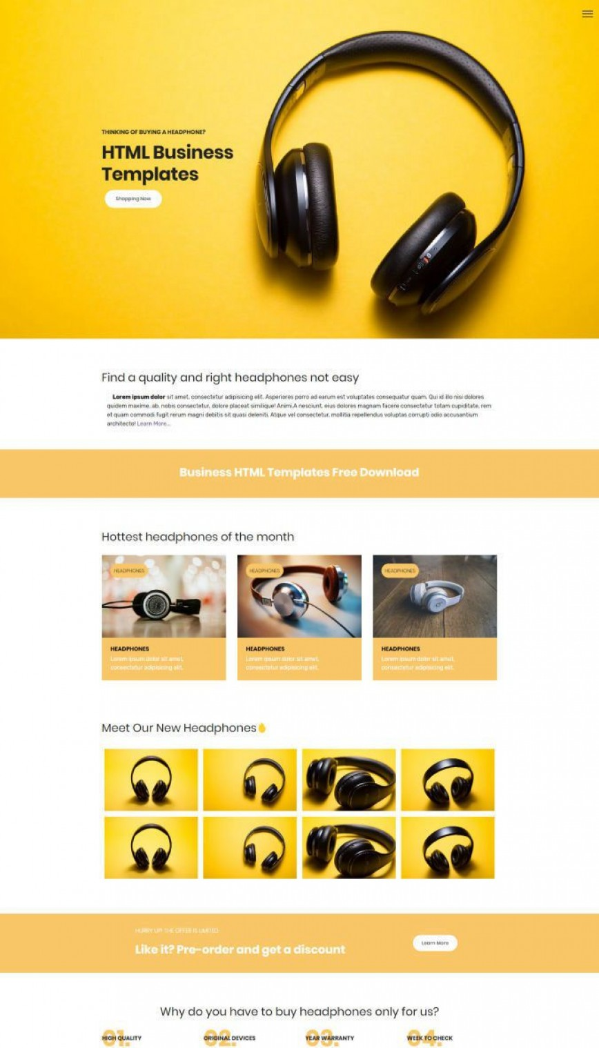 001 Awful Free Simple Web Page Template Picture  Html One Website Download With Cs868