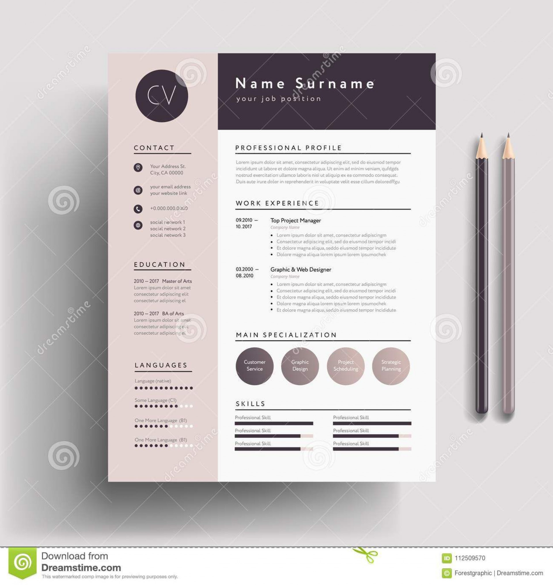 001 Awful Free Stylish Resume Template Concept  Templates Word Download1920
