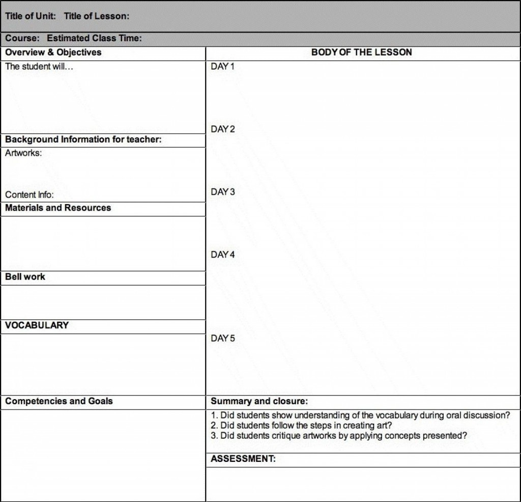 001 Awful Lesson Plan Template High School Picture  Secondary Sample English ScienceLarge