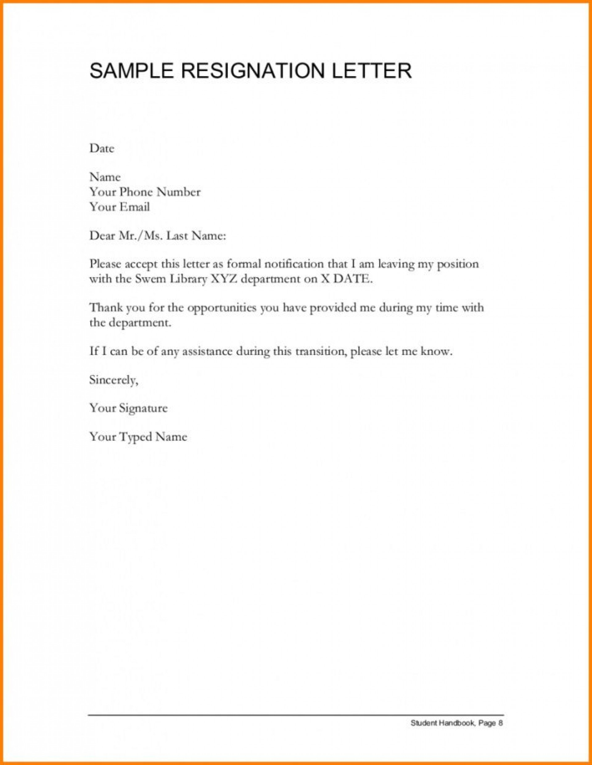 001 Awful Letter Of Resignation Template Free Highest Clarity  Pdf Sample1920