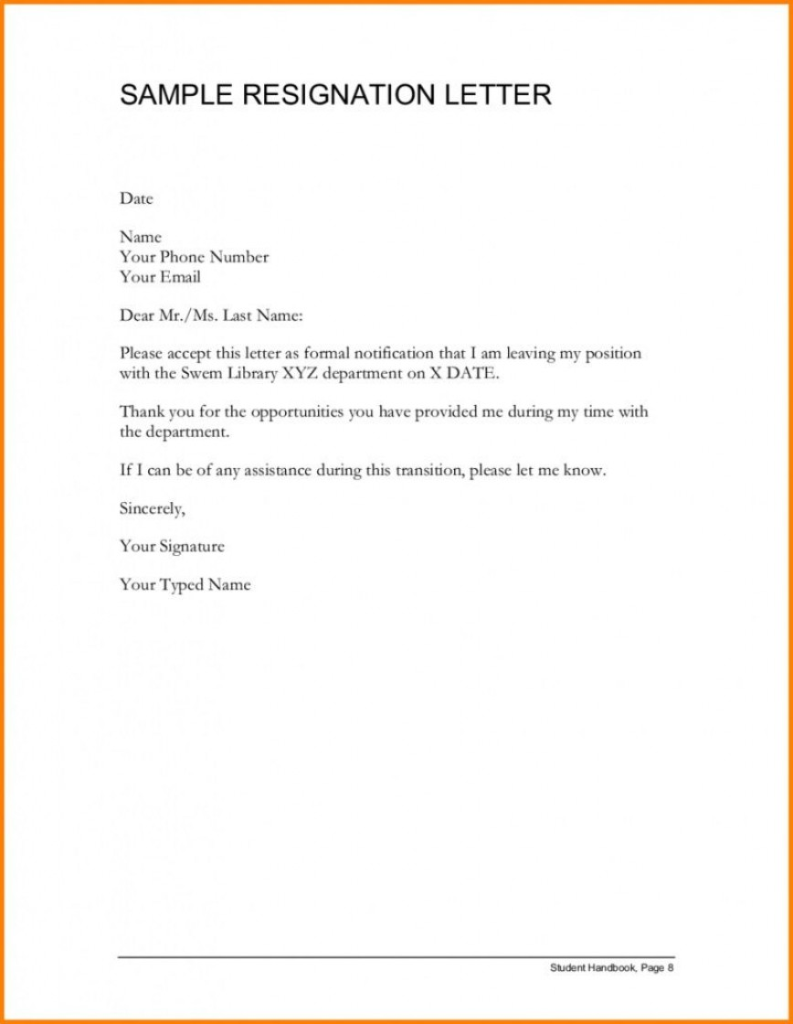 001 Awful Letter Of Resignation Template Free Highest Clarity  Sample Uk Printable