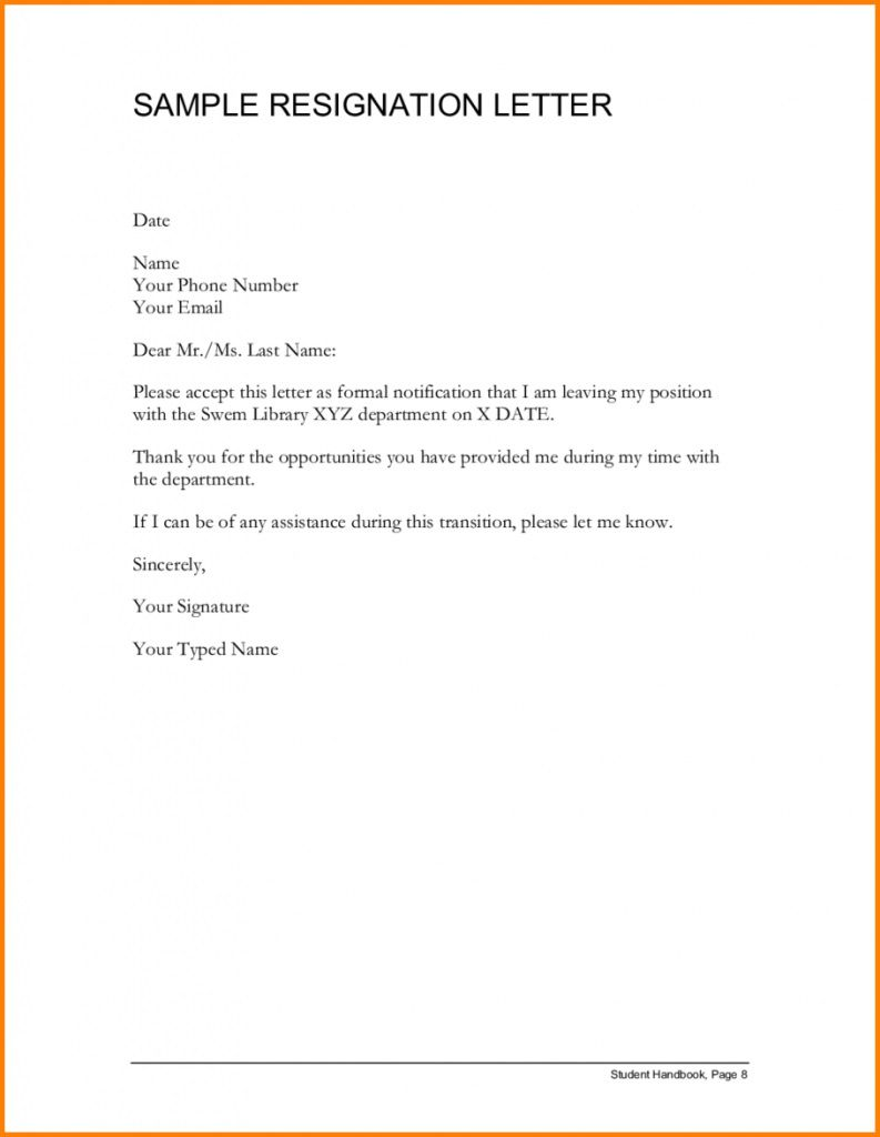 001 Awful Letter Of Resignation Template Free Highest Clarity  Pdf SampleFull