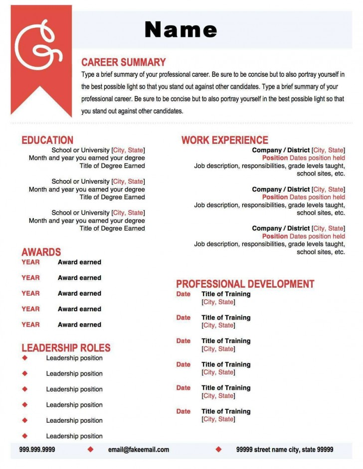 001 Awful Make A Resume Template High Definition  Create For Free How To Good728