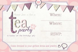 001 Awful Tea Party Invitation Template High Definition  Wording Vintage Free Sample