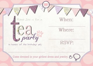 001 Awful Tea Party Invitation Template High Definition  Vintage Free Editable Card Pdf320