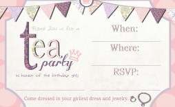001 Awful Tea Party Invitation Template High Resolution  Templates Free Download Bridal Shower