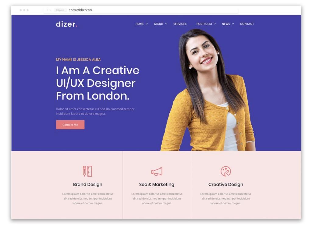 001 Awful Web Developer Portfolio Template Example  Templates Best Design Theme Free WordpresLarge