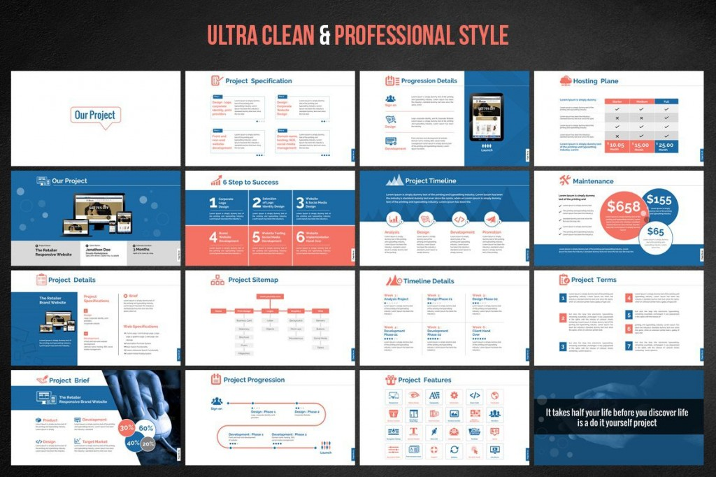 001 Awful Website Design Proposal Template Ppt Highest Quality Large