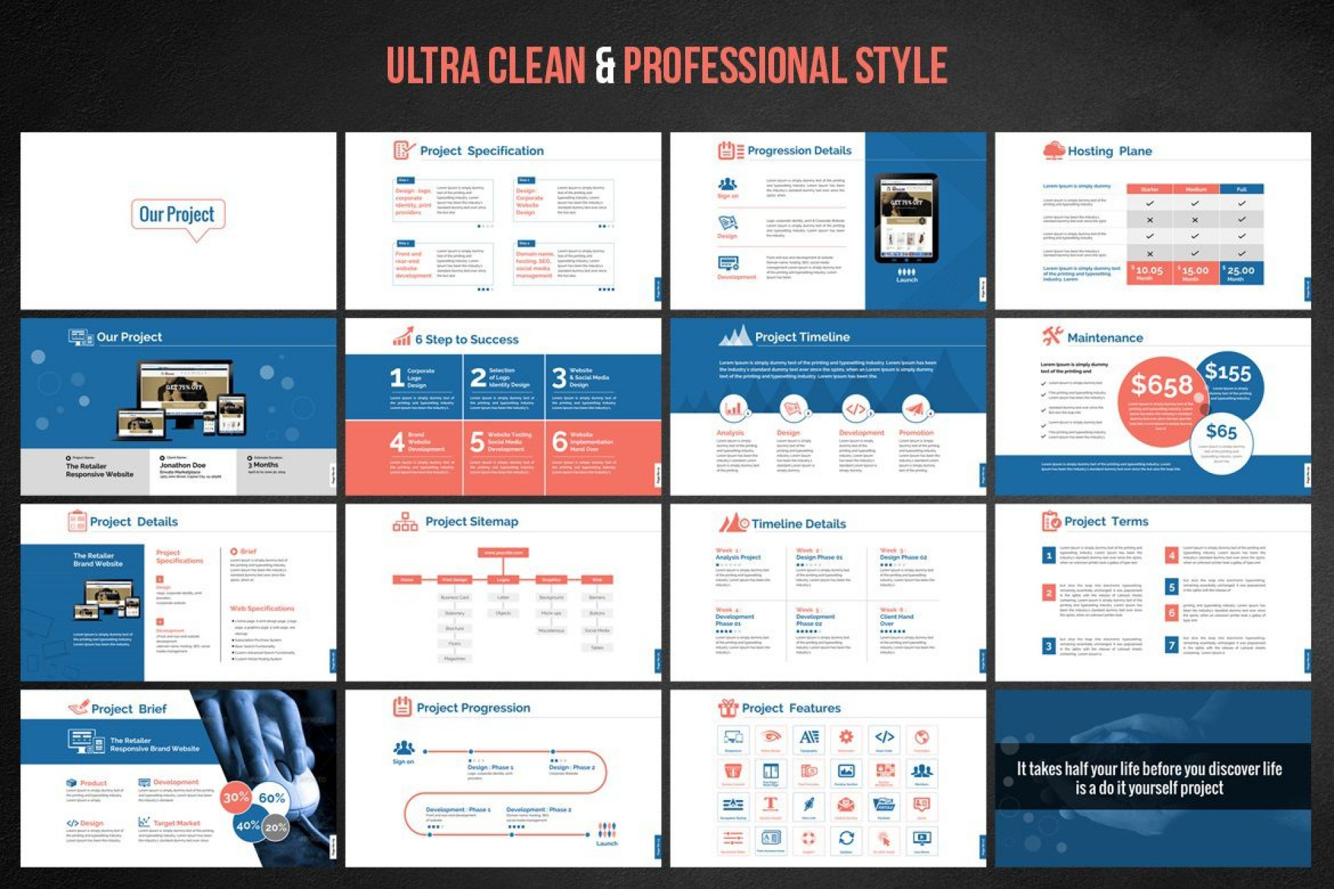 001 Awful Website Design Proposal Template Ppt Highest Quality 1920