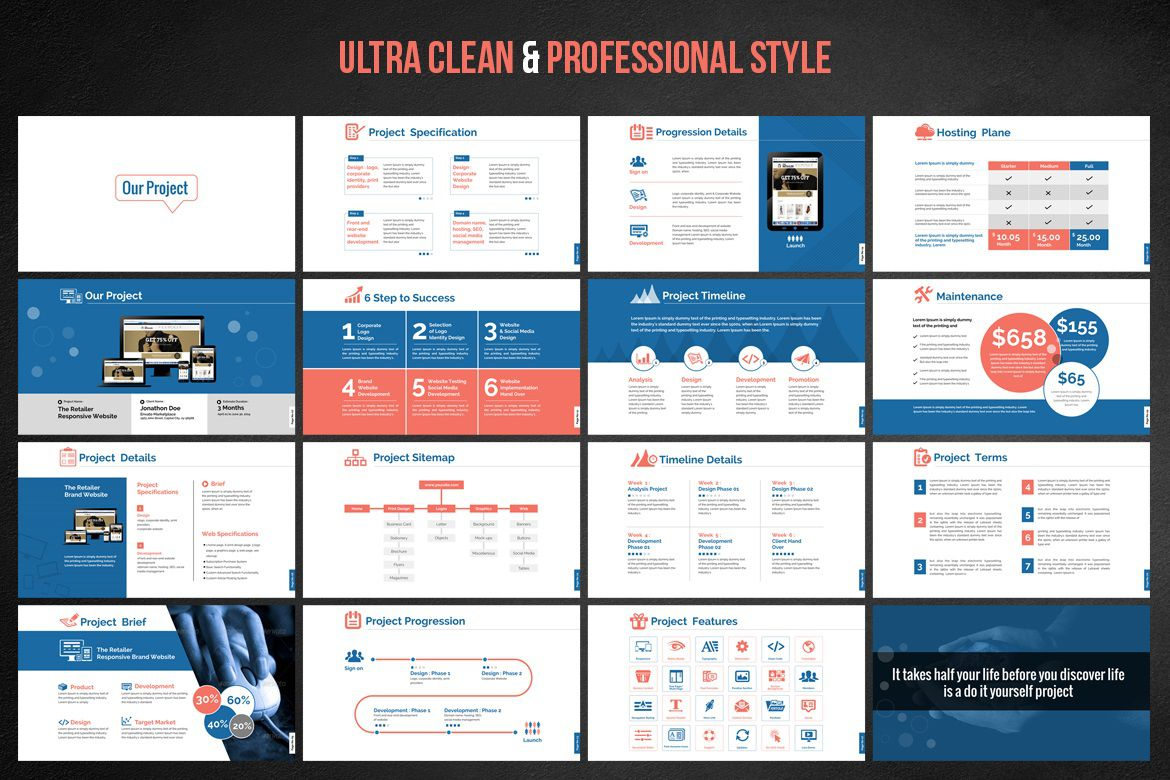 001 Awful Website Design Proposal Template Ppt Highest Quality Full