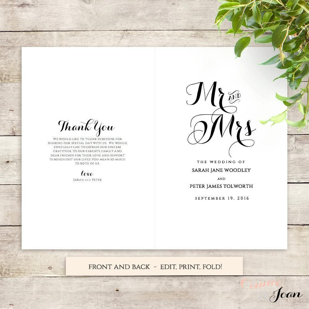 001 Awful Wedding Order Of Service Template Free Download Example  Downloadable That Can Be PrintedFull