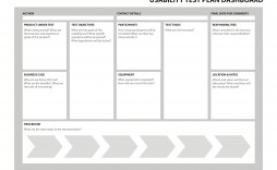 001 Beautiful Agile Test Plan Template Image  Word Example Document