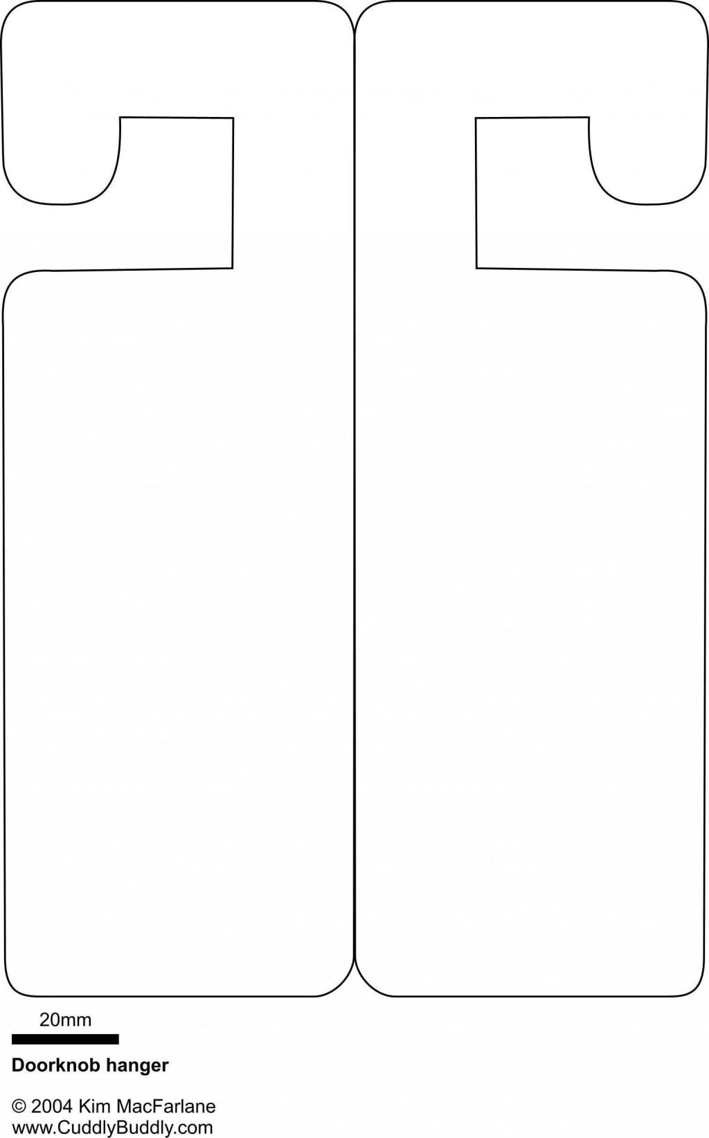 001 Beautiful Blank Door Hanger Template Free Concept Large