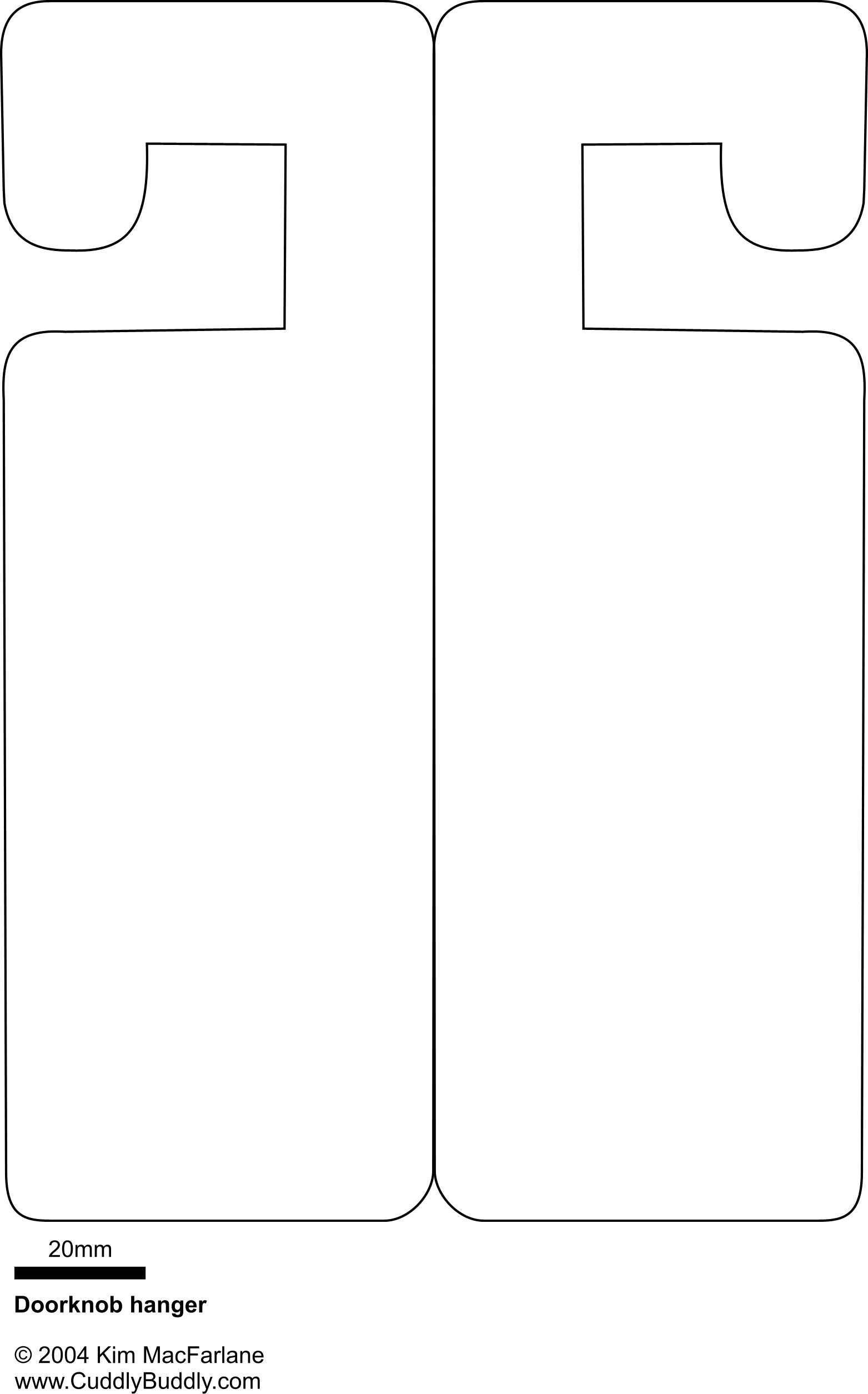 001 Beautiful Blank Door Hanger Template Free Concept Full