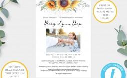 001 Beautiful Celebration Of Life Announcement Template Free Sample  Invitation Download Invite