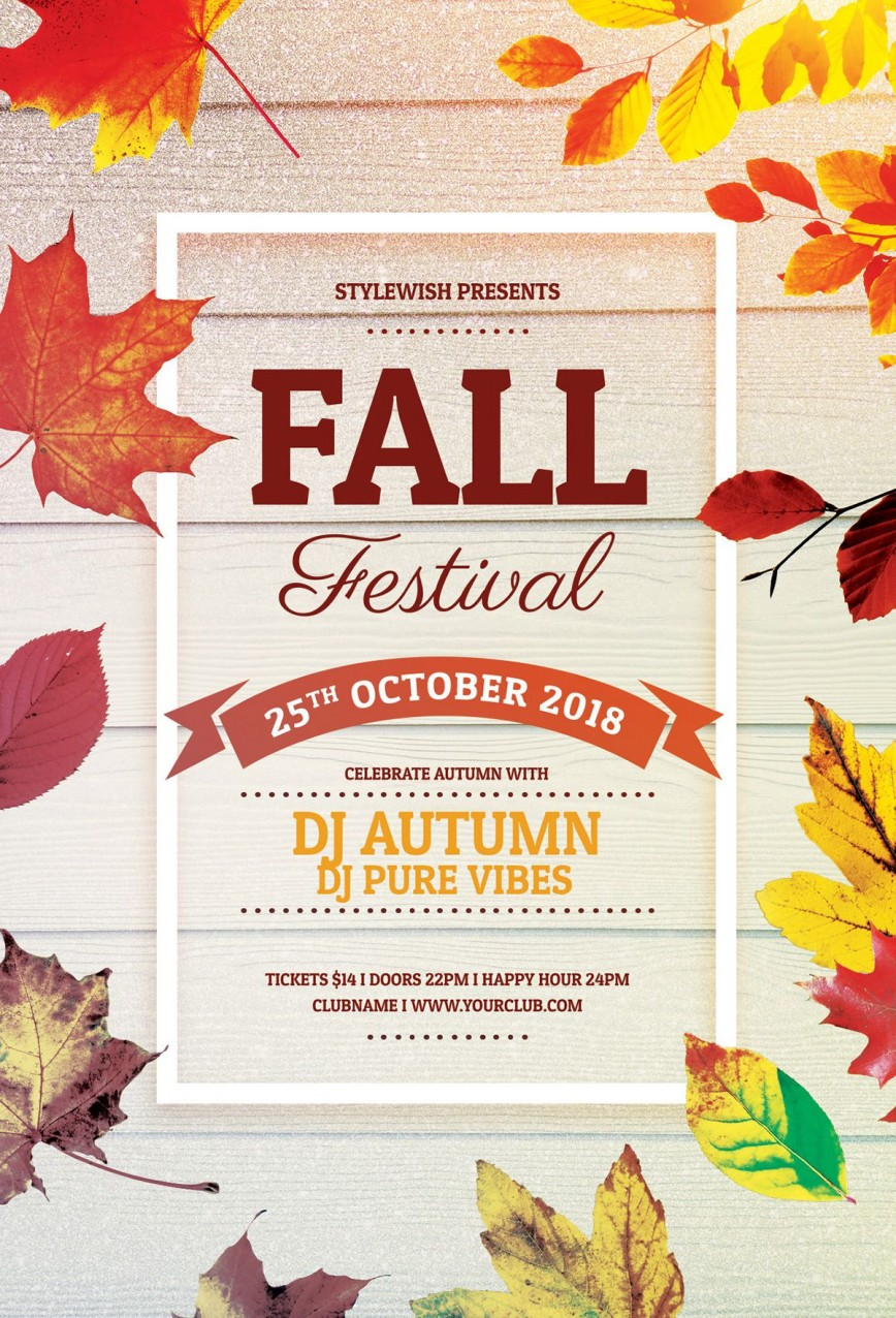 Fall Festival Flyer Free Template from www.addictionary.org
