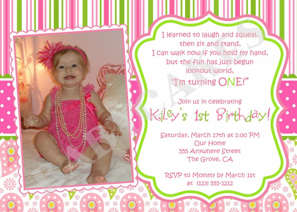 001 Beautiful Free 1st Birthday Invitation Template For Word Inspiration Large