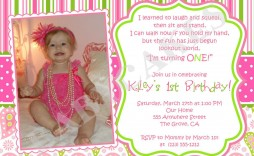 001 Beautiful Free 1st Birthday Invitation Template For Word Inspiration