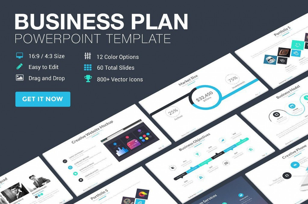 001 Beautiful Free Busines Plan Template Ppt High Resolution  2020 Download Startup 30 60 90Large