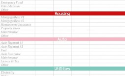 001 Beautiful Free Monthly Home Budget Template Example  Household Simple Excel